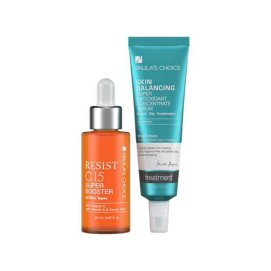 RESIST C15 Super Booster + SKIN BALANCING Super Antioxidant Concentrate Serum with Retinol