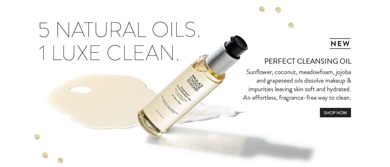 Perfect Cleansing Oil. Shop Now.
