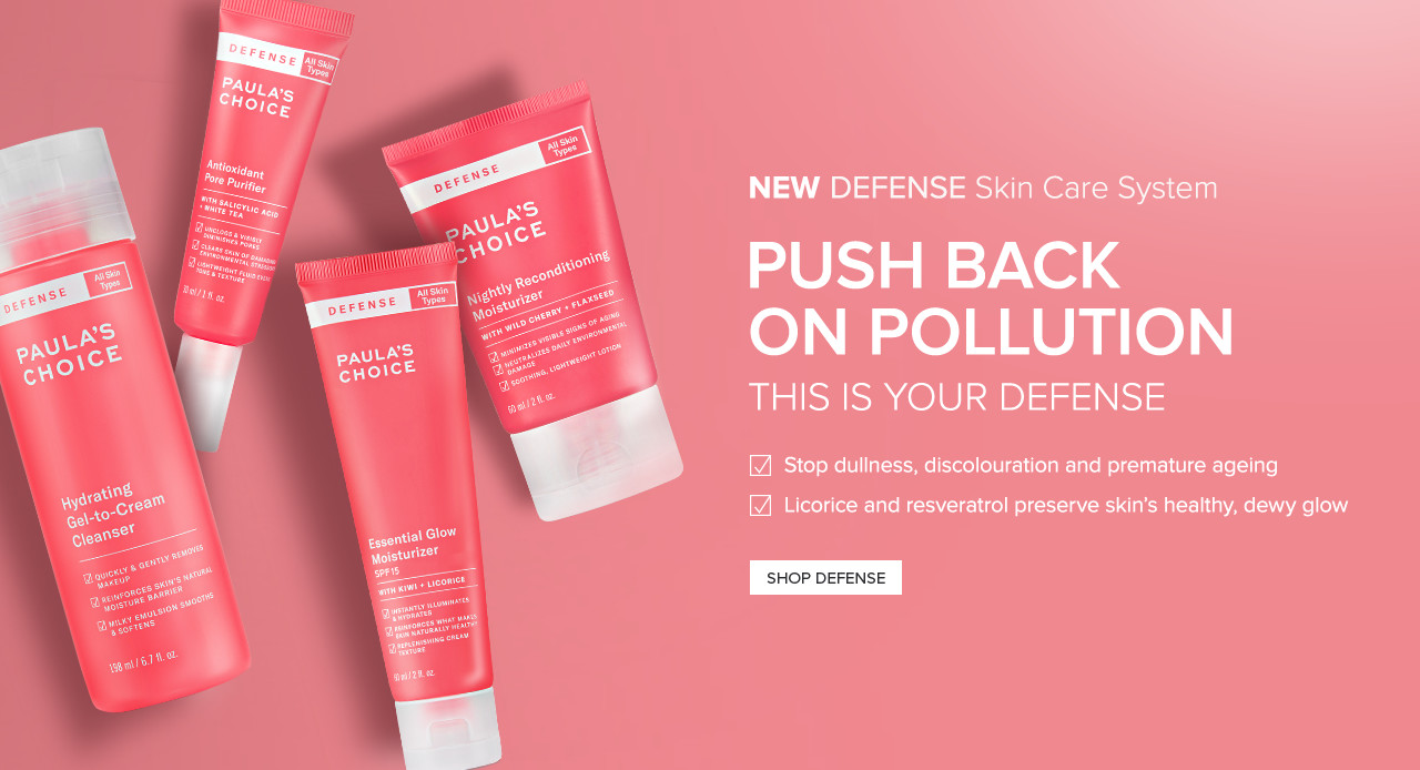 The New Superhero Solution. NEW DEFENSE Skin Care System. Shop Now.