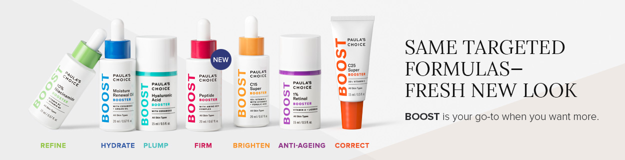Same Targeted Formulas - Fresh New Look. Boost is your go-to when you want more.